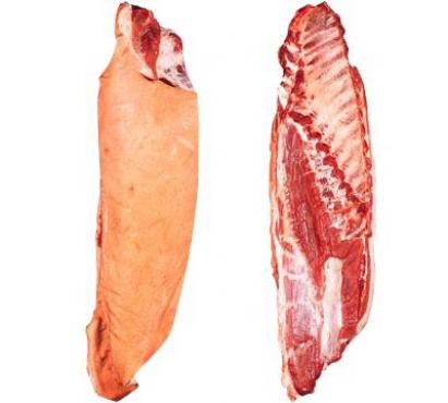 Boned belly with flank and rind, untrimmed